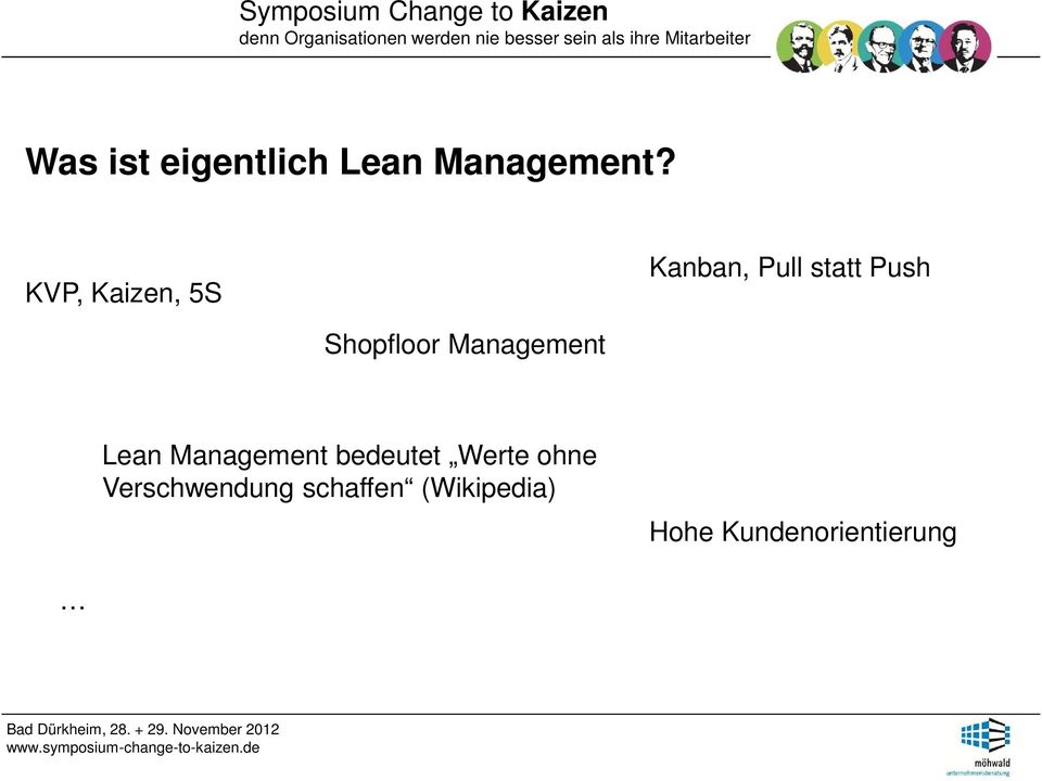 Shopfloor Management Lean Management bedeutet