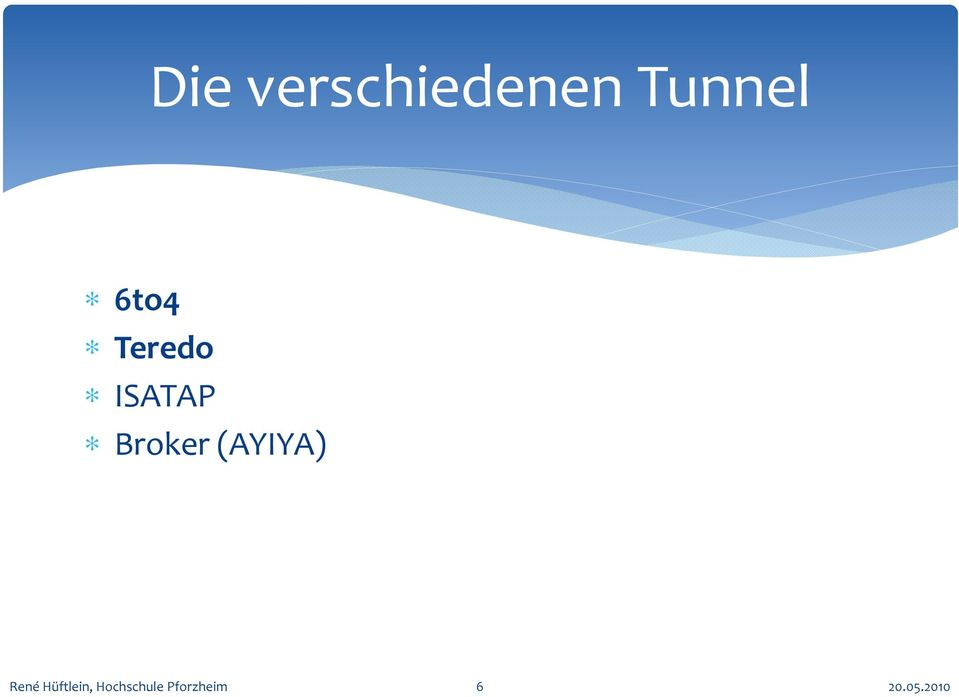 Tunnel 6to4