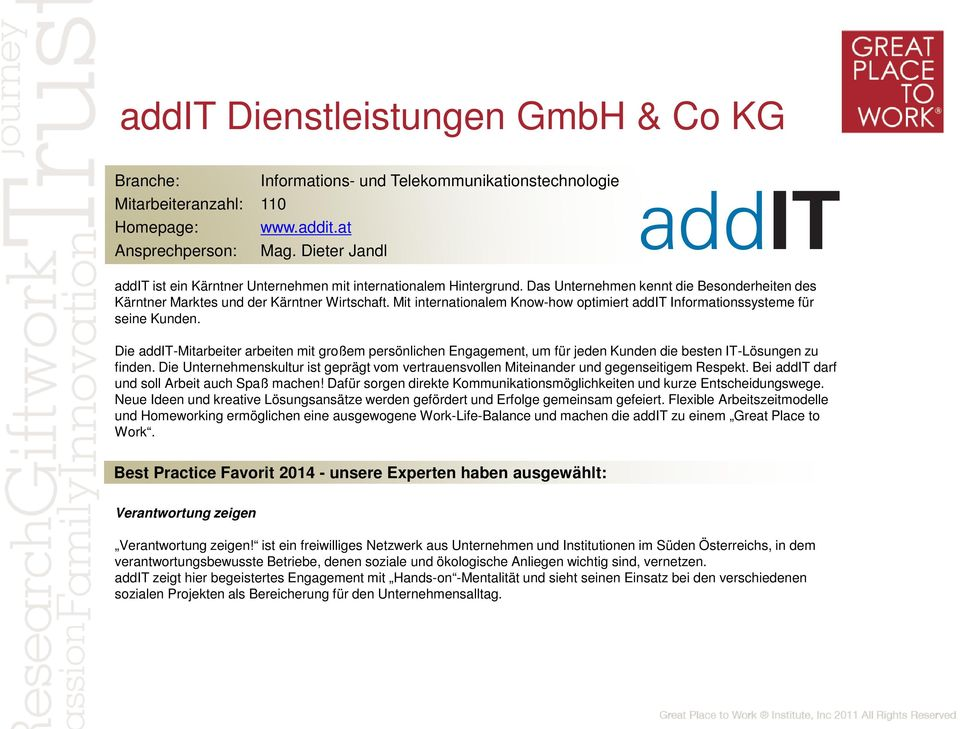 Mit internationalem Know-how optimiert addit Informationssysteme für seine Kunden.