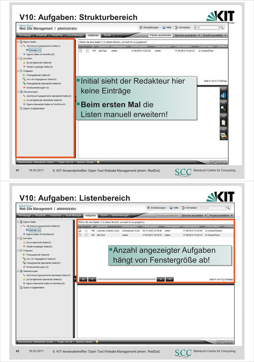 KIT-Anwendertreffen: Open Text Website Management (ehem.