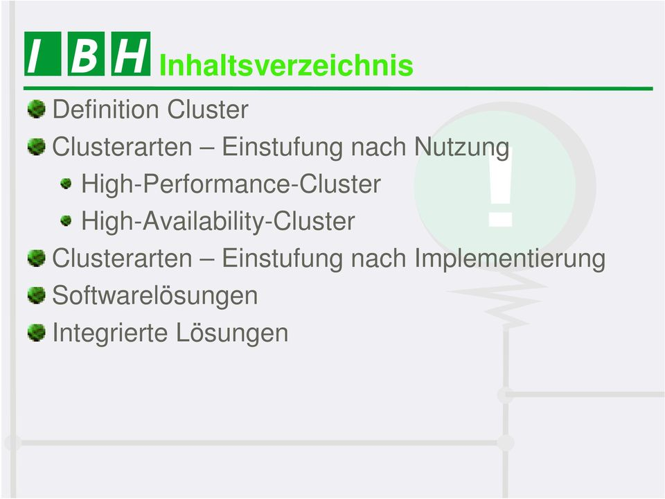 High-Availability-Cluster Clusterarten Einstufung
