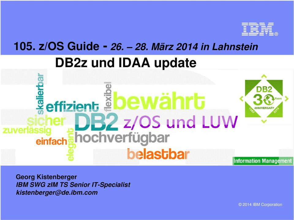 update Georg Kistenberger IBM SWG