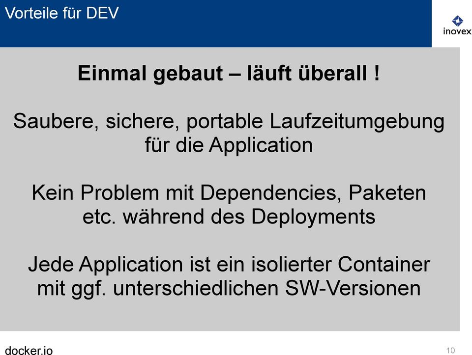 Kein Problem mit Dependencies, Paketen etc.