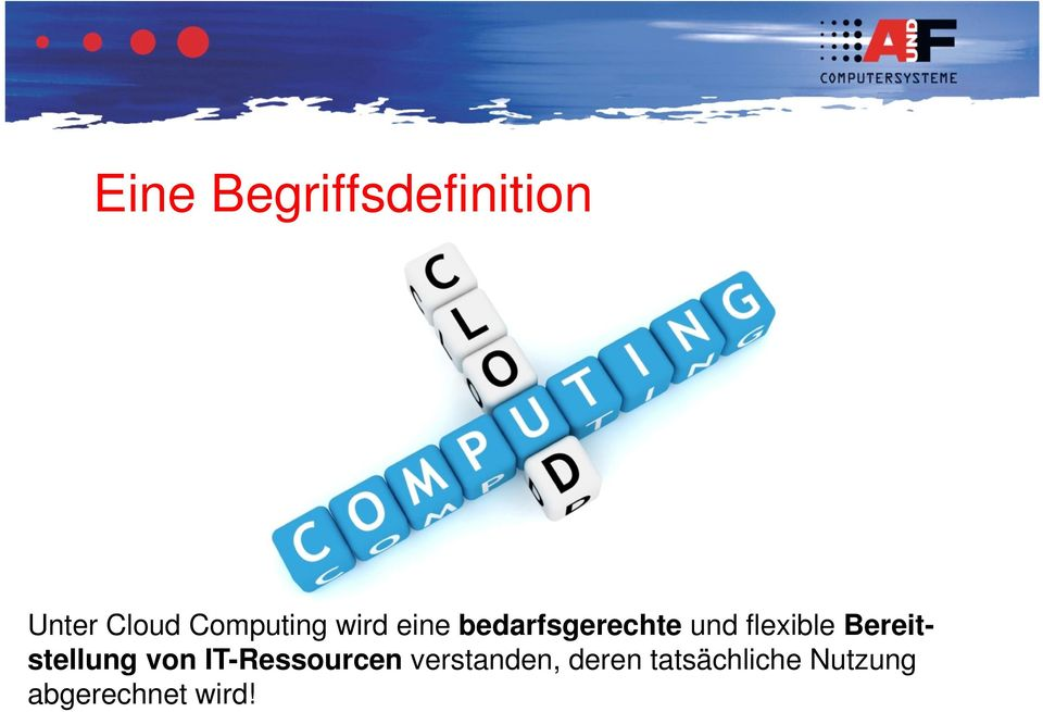 flexible Bereitstellung von IT-Ressourcen
