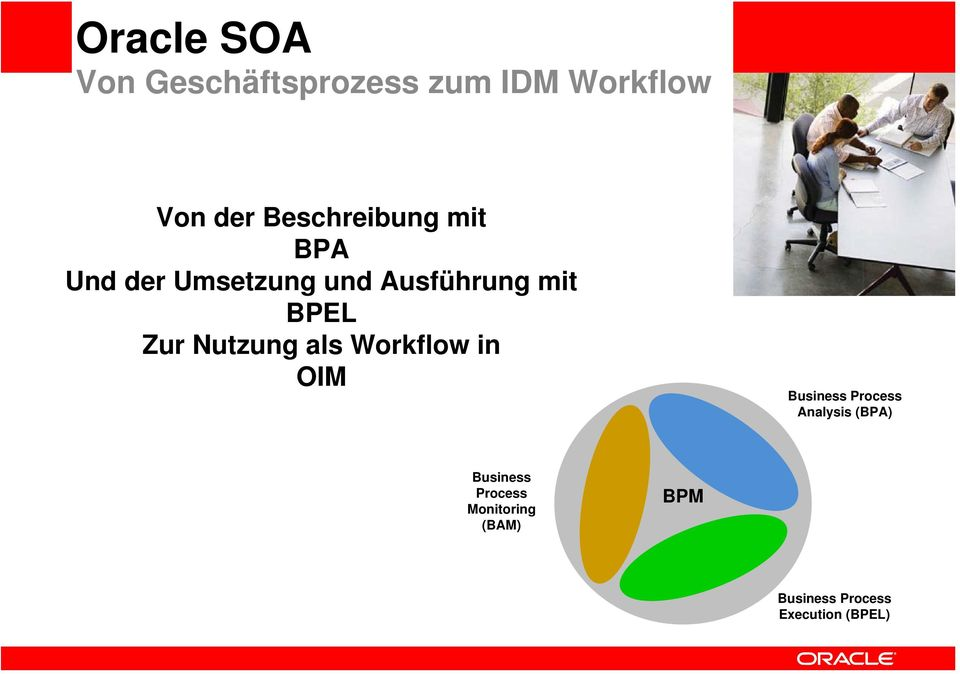 Workflow in OIM <Insert Picture Here> Business Process Analysis (BPA)