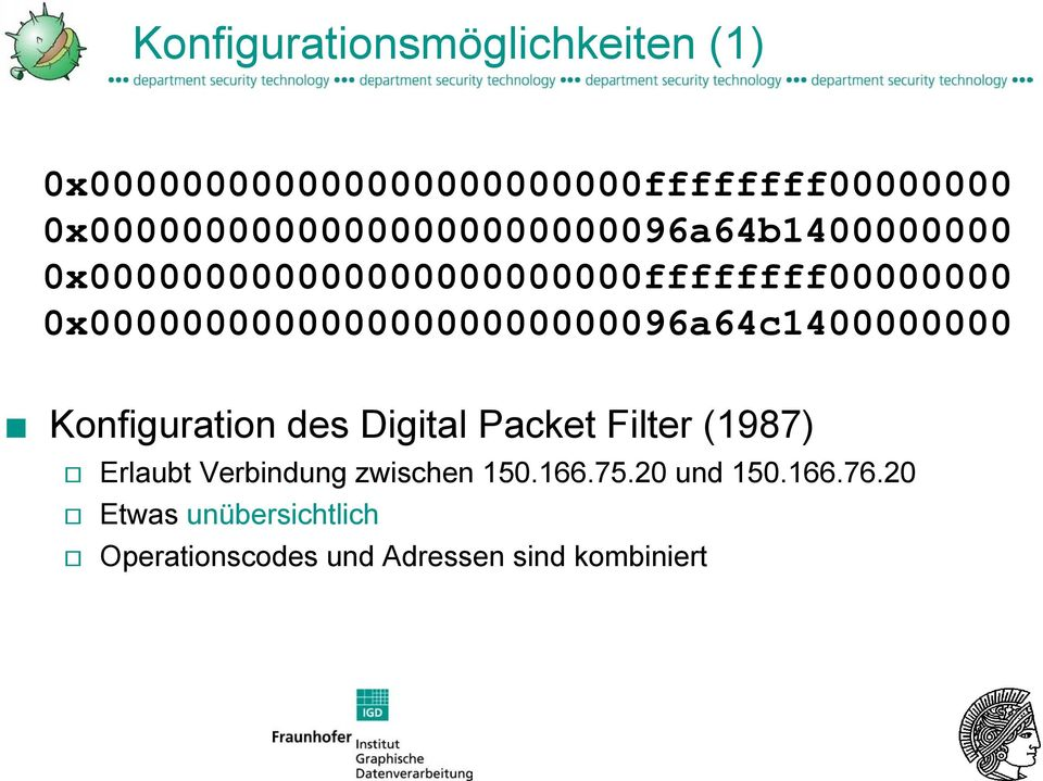 0x00000000000000000000000096a64c1400000000 Konfiguration des Digital Packet Filter (1987)