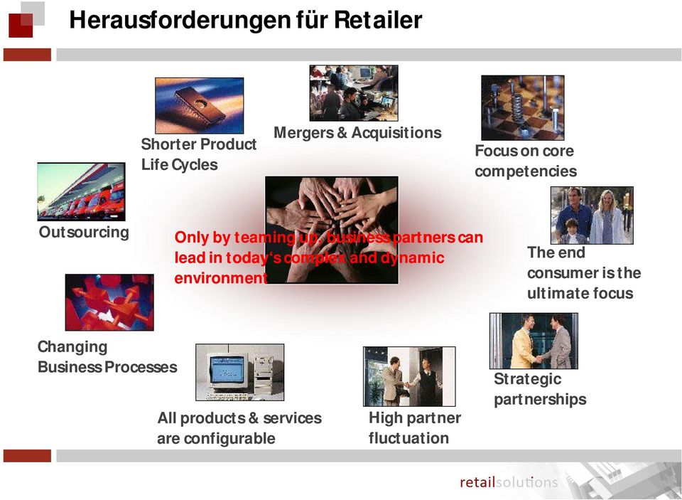 complex and dynamic environment The end consumer is the ultimate focus Changing Business