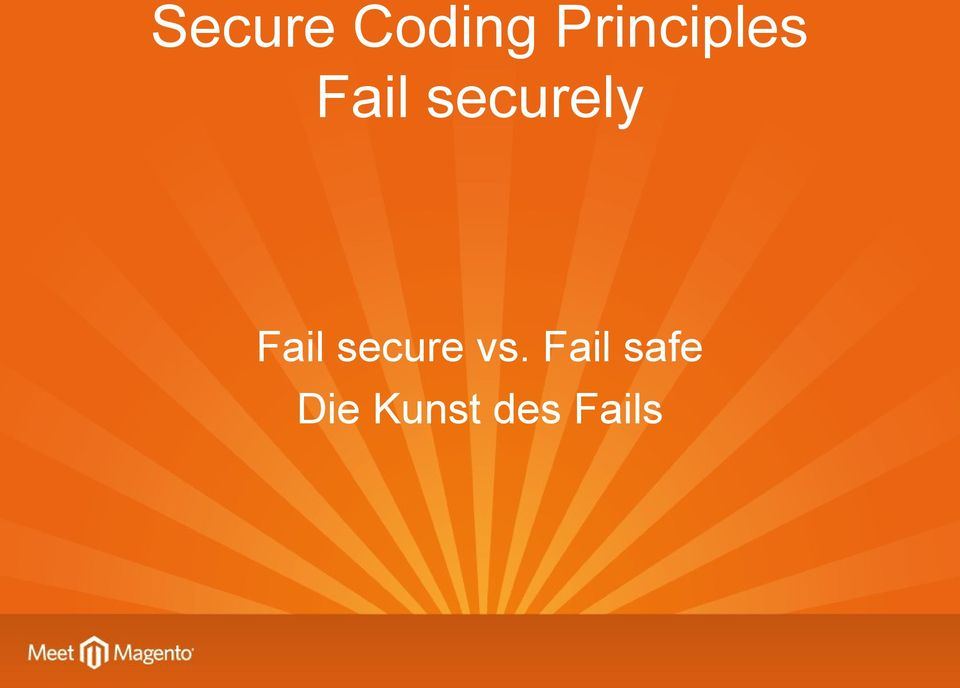 securely Fail secure