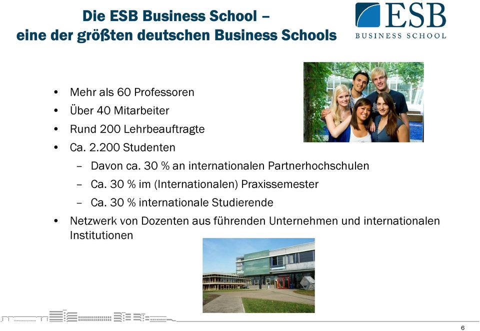 30 % an internationalen Partnerhochschulen Ca. 30 % im (Internationalen) Praxissemester Ca.