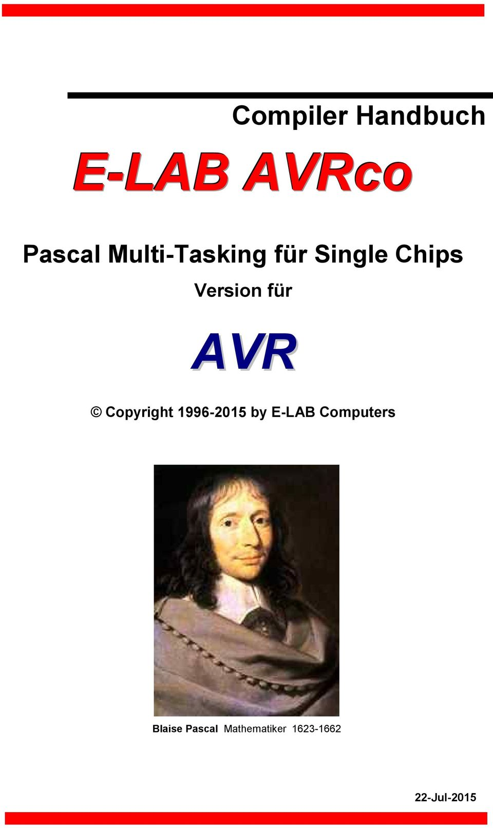 AVR Copyright 1996-2015 by E-LAB Computers