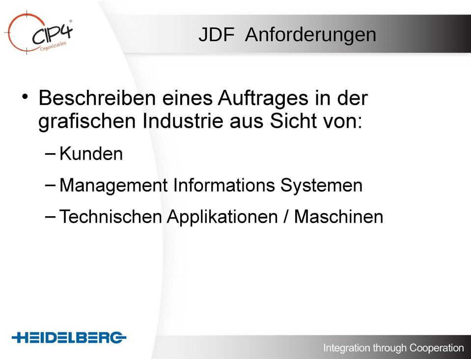 Sicht von: Kunden Management Informations