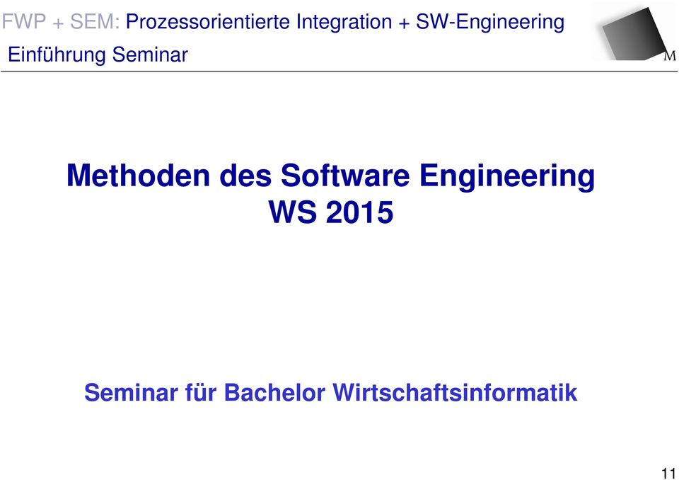 Engineering WS 2015