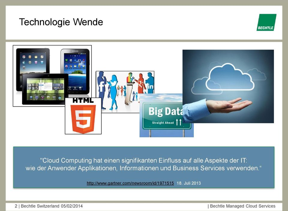 Business Services verwenden. http://www.gartner.