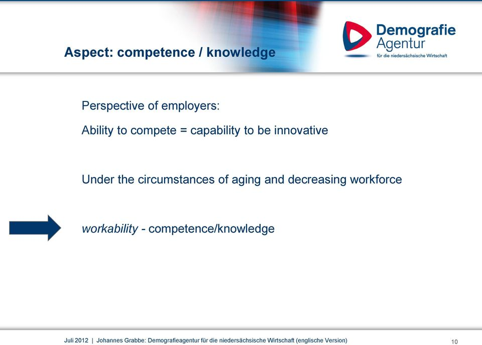 decreasing workforce workability - competence/knowledge Juli 2012 Johannes