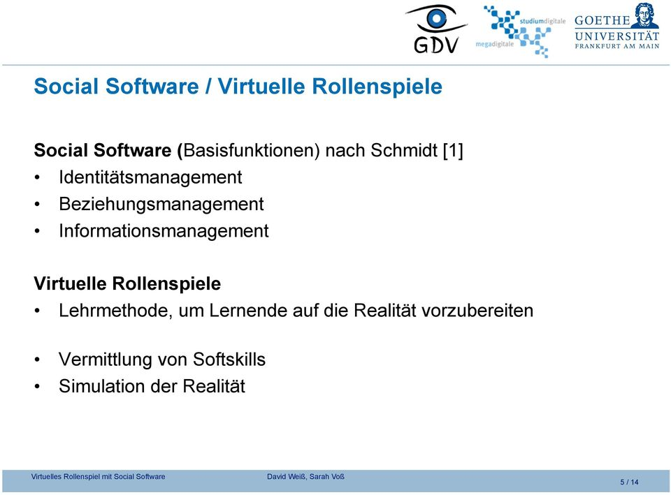 Beziehungsmanagement Informationsmanagement Virtuelle Rollenspiele