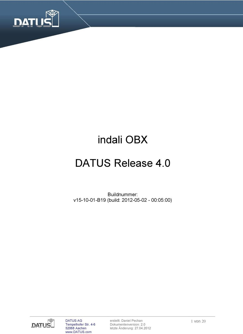 2 indali OBX DATUS Release 4.