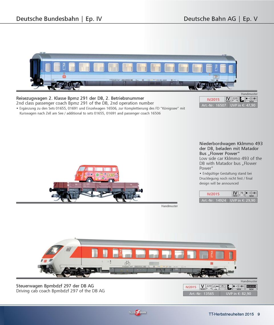 Zell am See / additional to sets 01655, 01691 and passenger coach 16506 220 Art.