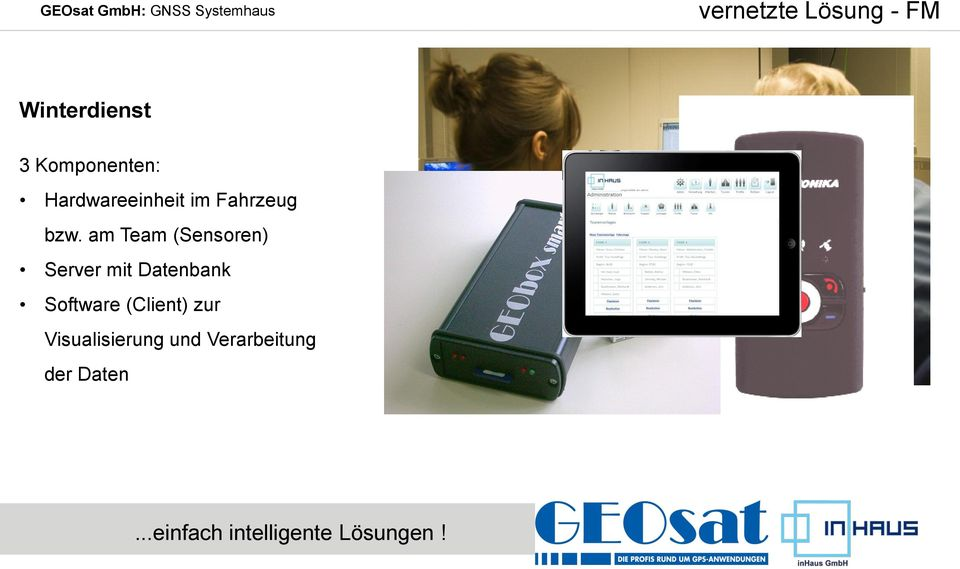am Team (Sensoren) Server mit Datenbank Software
