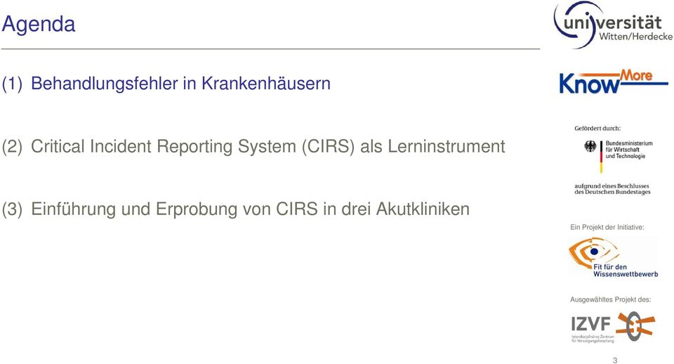 Reporting System (CIRS) als Lerninstrument