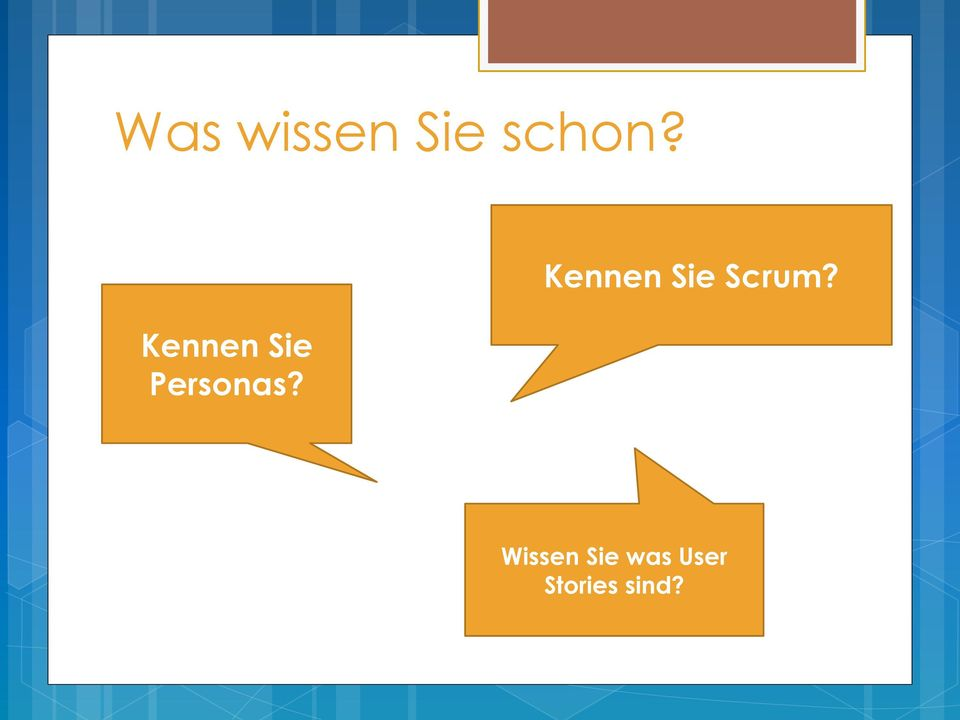 Kennen Sie Scrum?