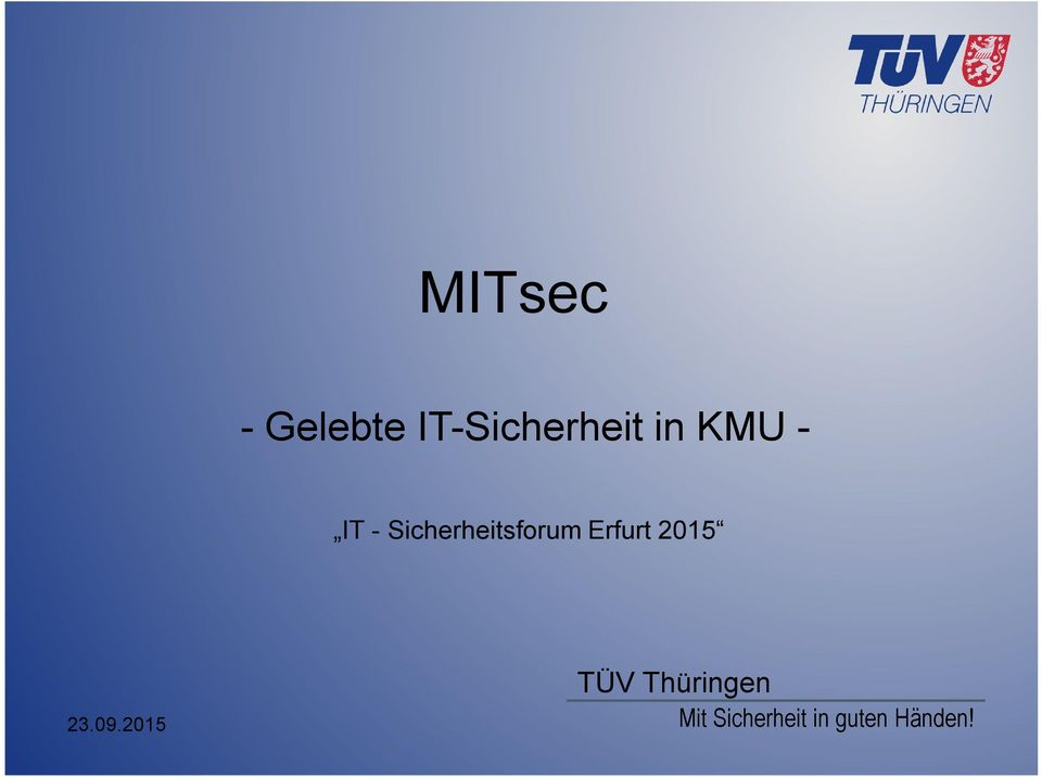 IT - Sicherheitsforum