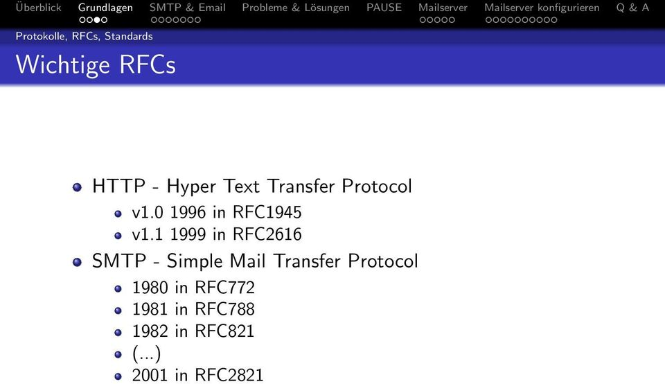 1 1999 in RFC2616 SMTP - Simple Mail Transfer Protocol