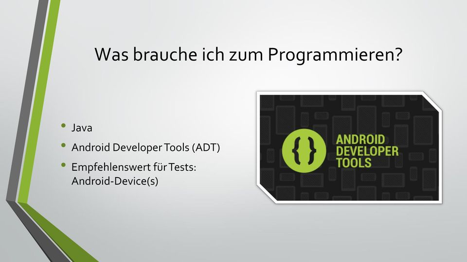 Java Android Developer Tools