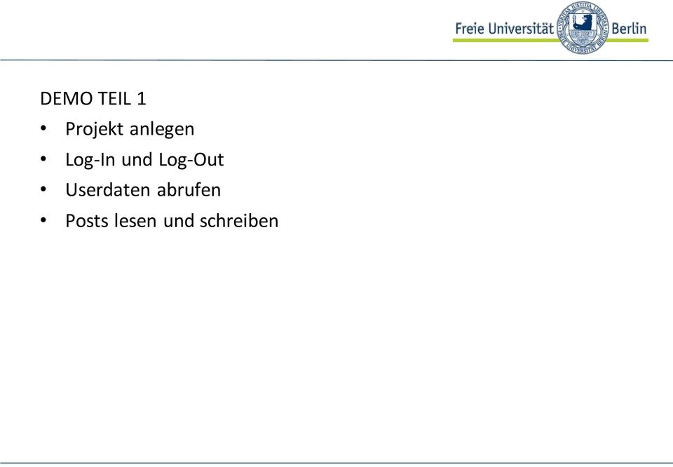 Log-Out Userdaten