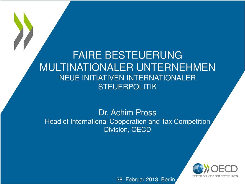 Achim Pross Head of International Cooperation and