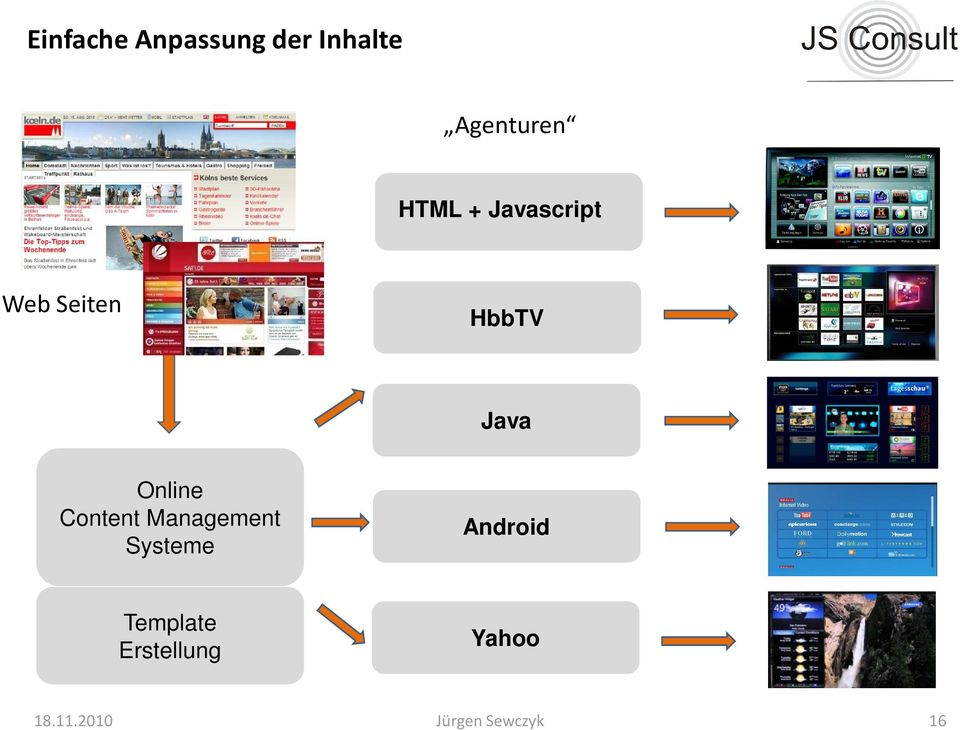 Online Content Management Systeme Android