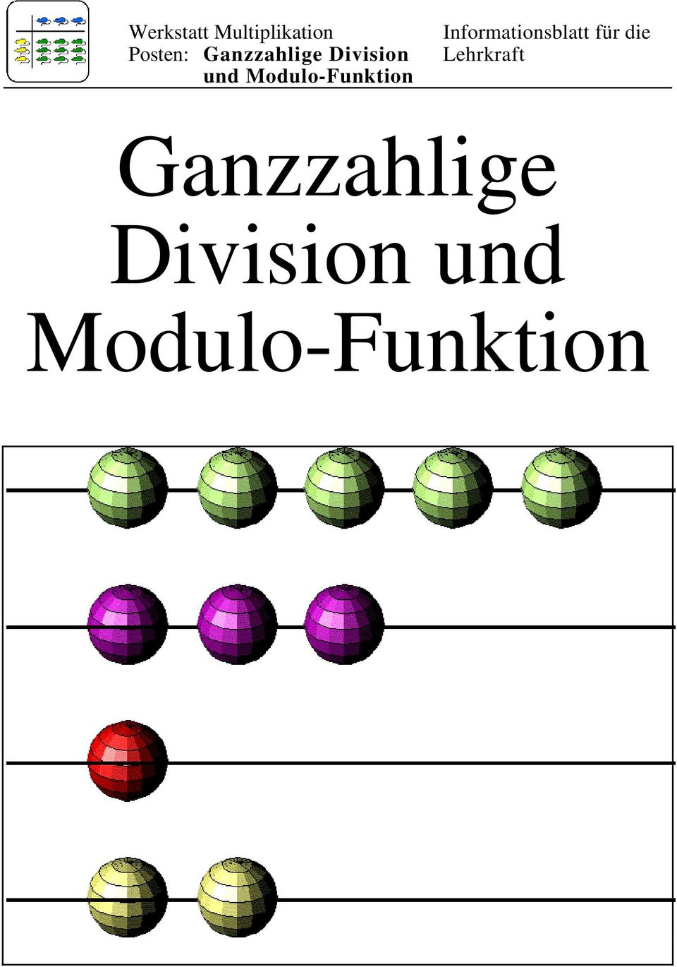 ganzzahlige division und modulo funktion pdf. Black Bedroom Furniture Sets. Home Design Ideas