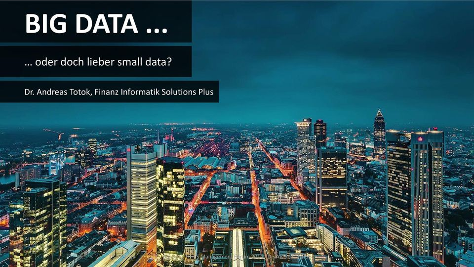 Solutions Plus Big Data - FI-TS