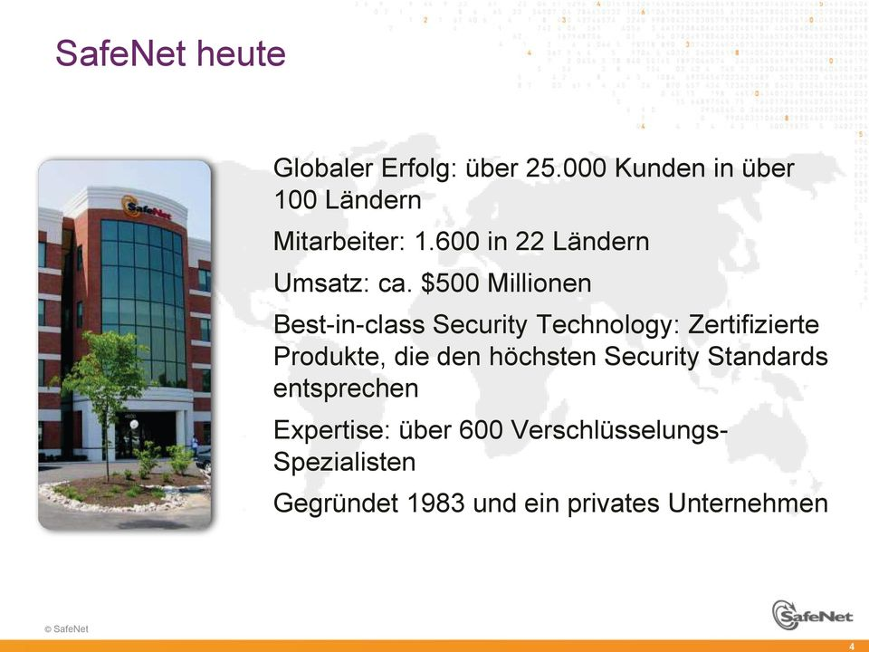 $500 Millionen Best-in-class Security Technology: Zertifizierte Produkte, die den