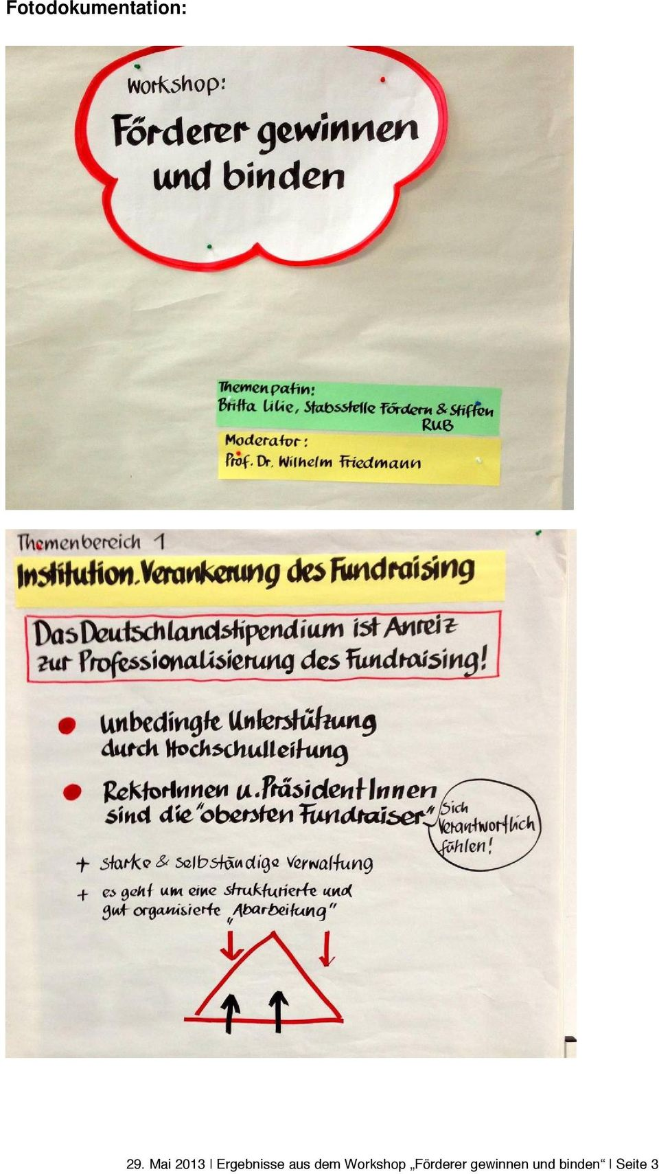 Wilhelm Friedmann Foto: Notizen des Workshops Themenbereich 1 Institutionelle Verankerung des Fundraising Das Deutschlandstipendium ist Anreiz zur Professionalisierung