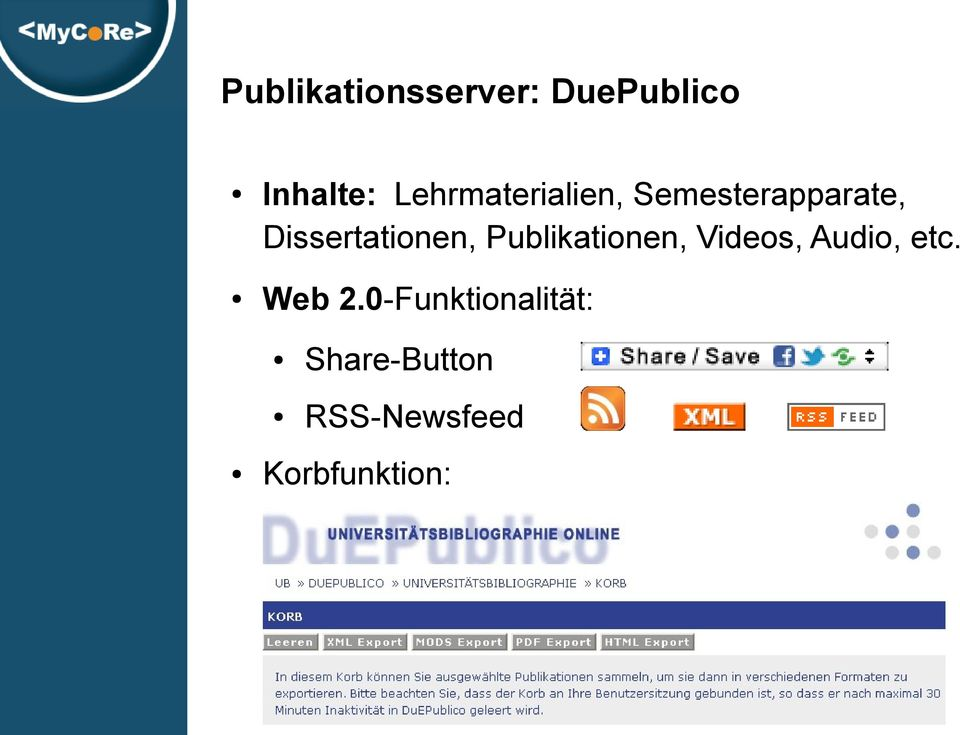Dissertationen, Publikationen, Videos, Audio,