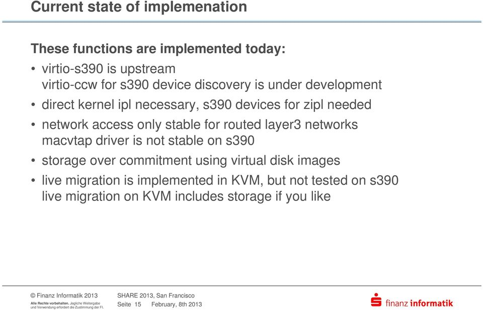 routed layer3 networks macvtap driver is not stable on s390 storage over commitment using virtual disk images live