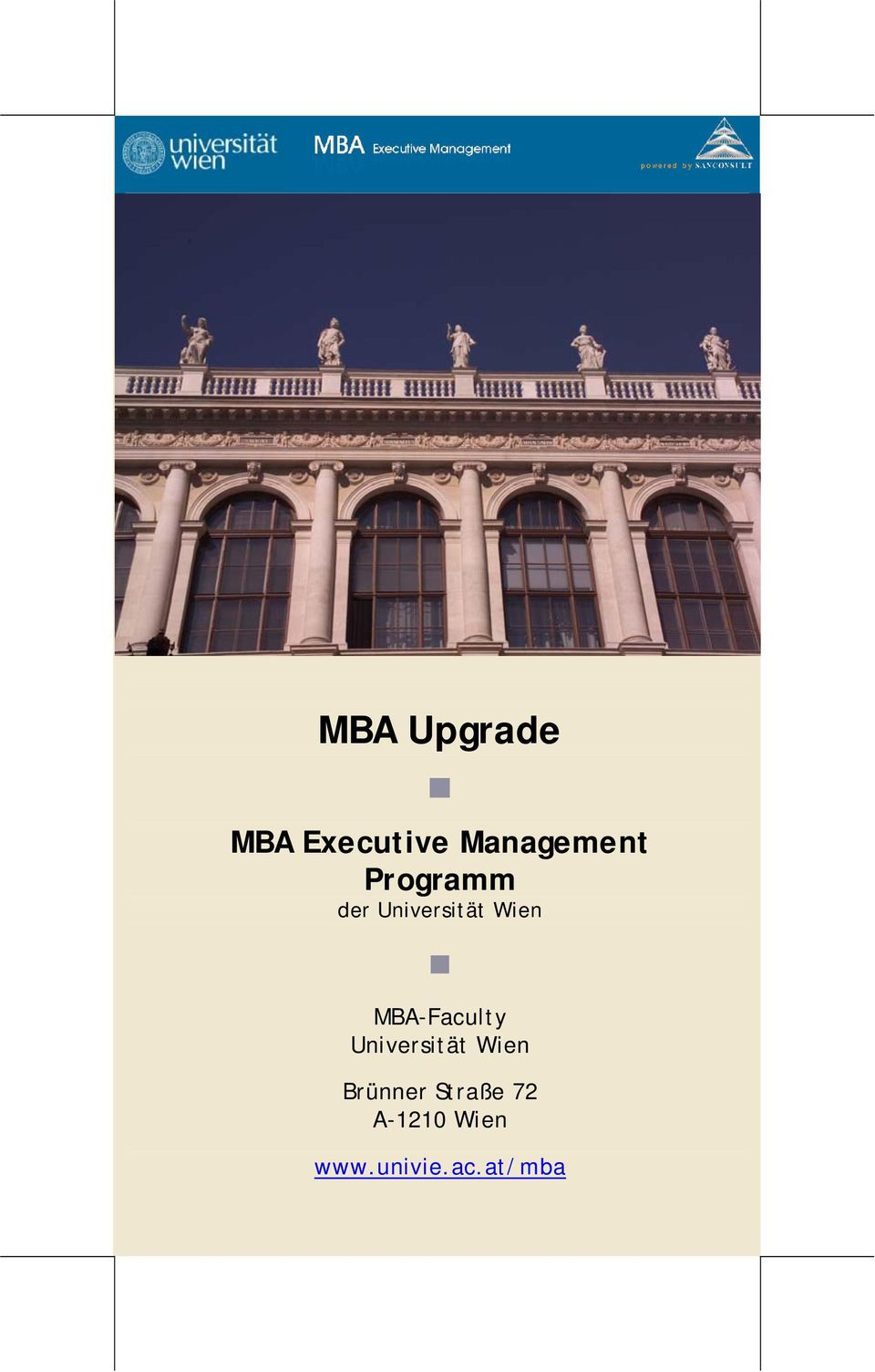 MBA-Faculty Universität Wien Brünner