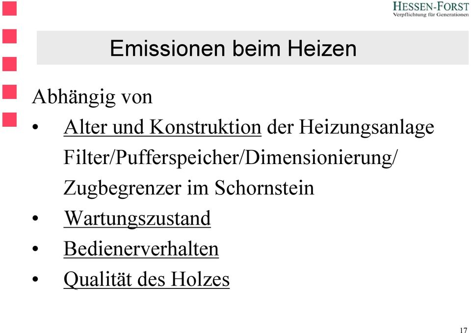 Filter/Pufferspeicher/Dimensionierung/