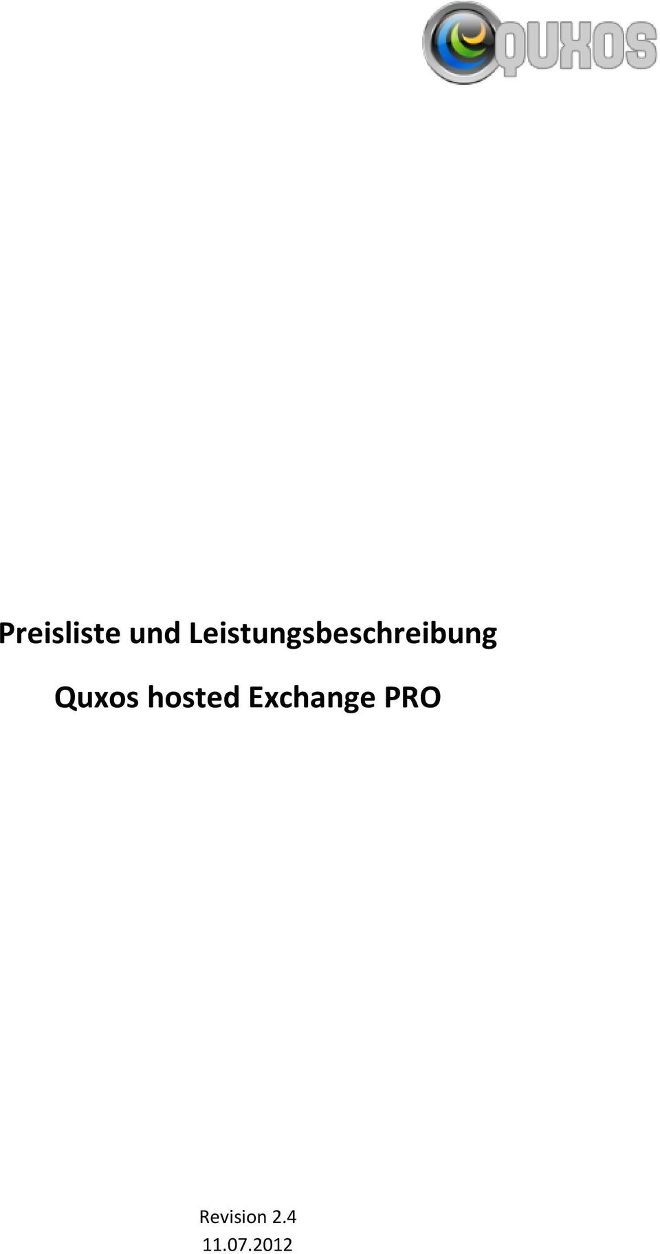 Quxos hosted Exchange