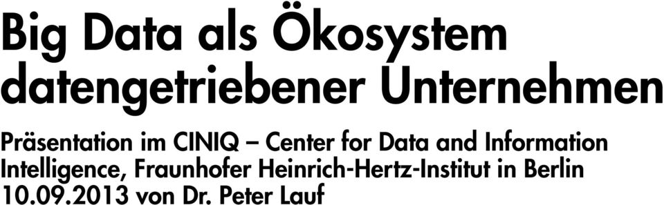 Data and Information Intelligence, Fraunhofer