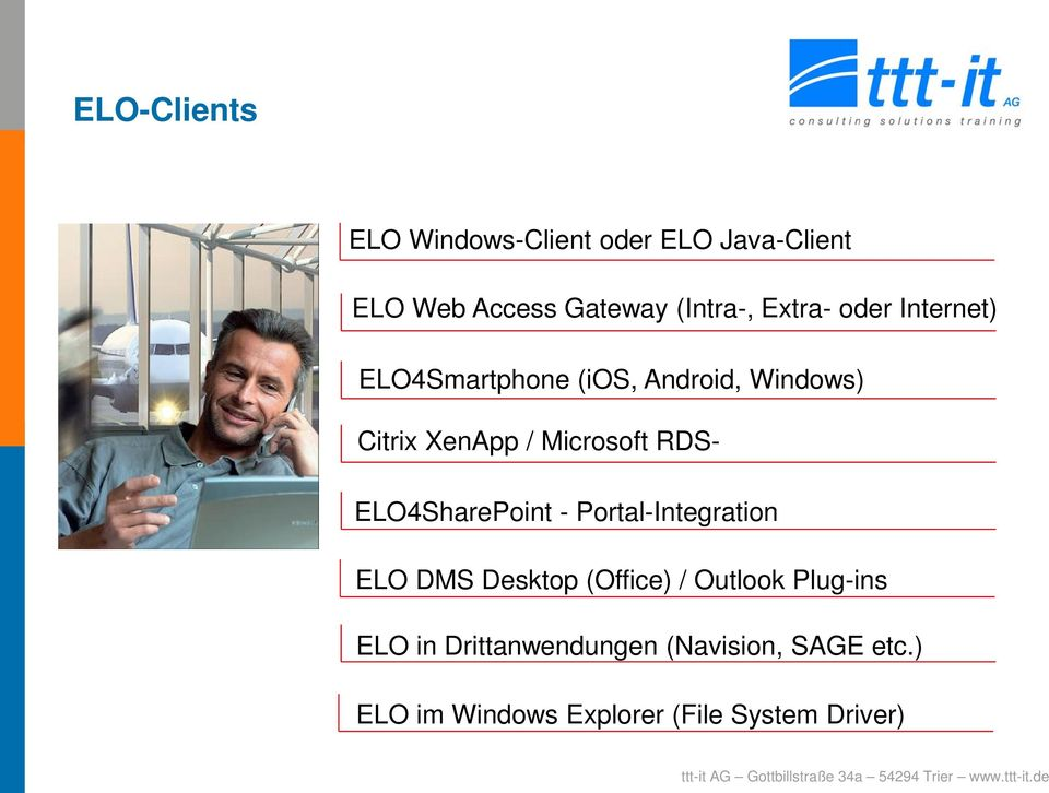 RDS- ELO4SharePoint - Portal-Integration ELO DMS Desktop (Office) / Outlook Plug-ins