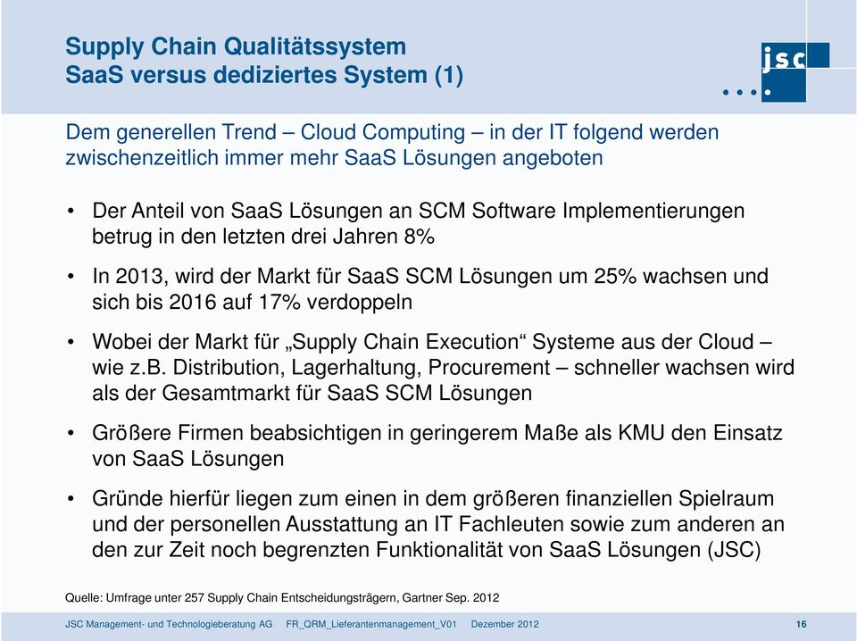 Supply Chain Execution Systeme aus der Cloud wie z.b.