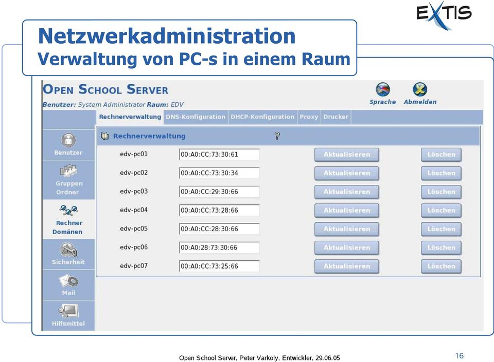 Raum Open School Server,