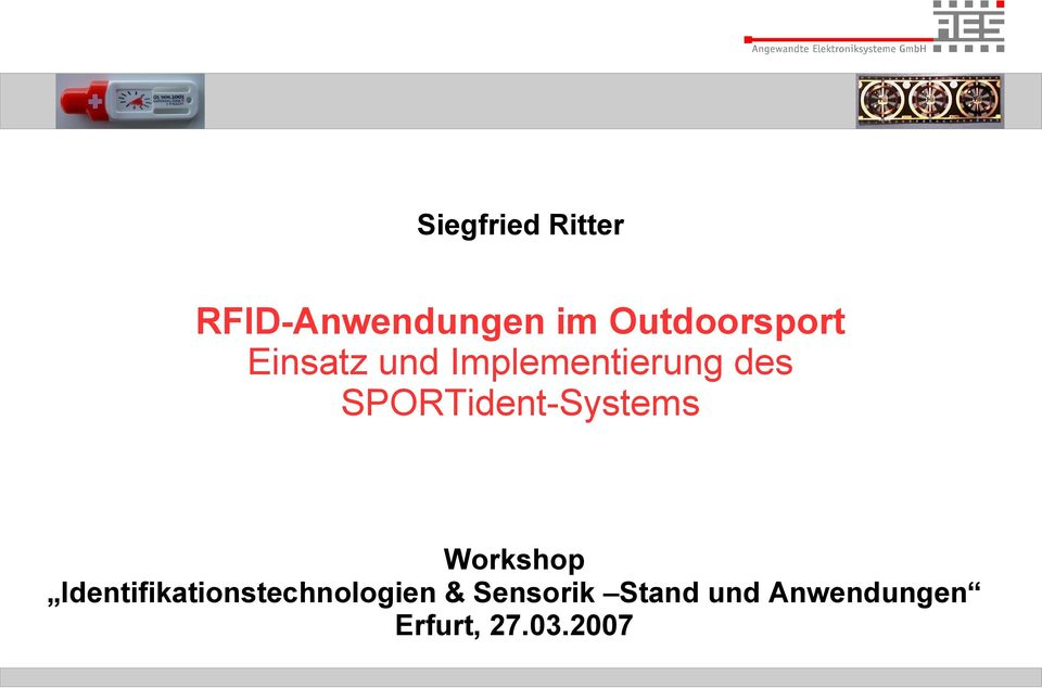 SPORTident-Systems Workshop