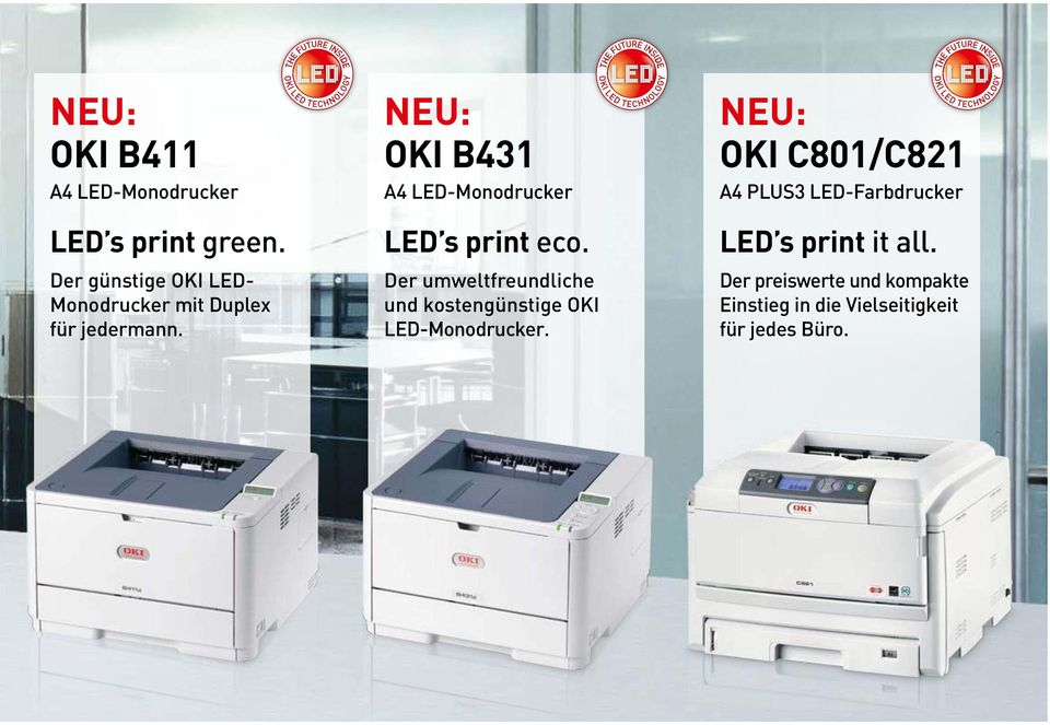 NEU: OKI B431 A4 LED-Monodrucker LED s print eco.
