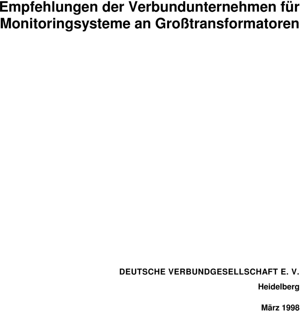 Monitoringsysteme an