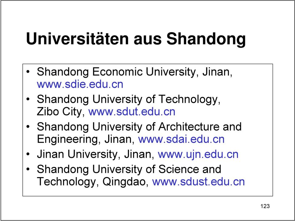 cn Shandong University of Architecture and Engineering, Jinan, www.sdai.edu.