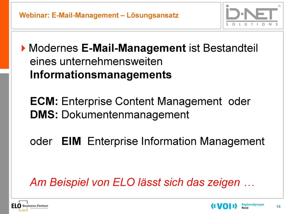 Enterprise Content Management oder DMS: Dokumentenmanagement oder EIM