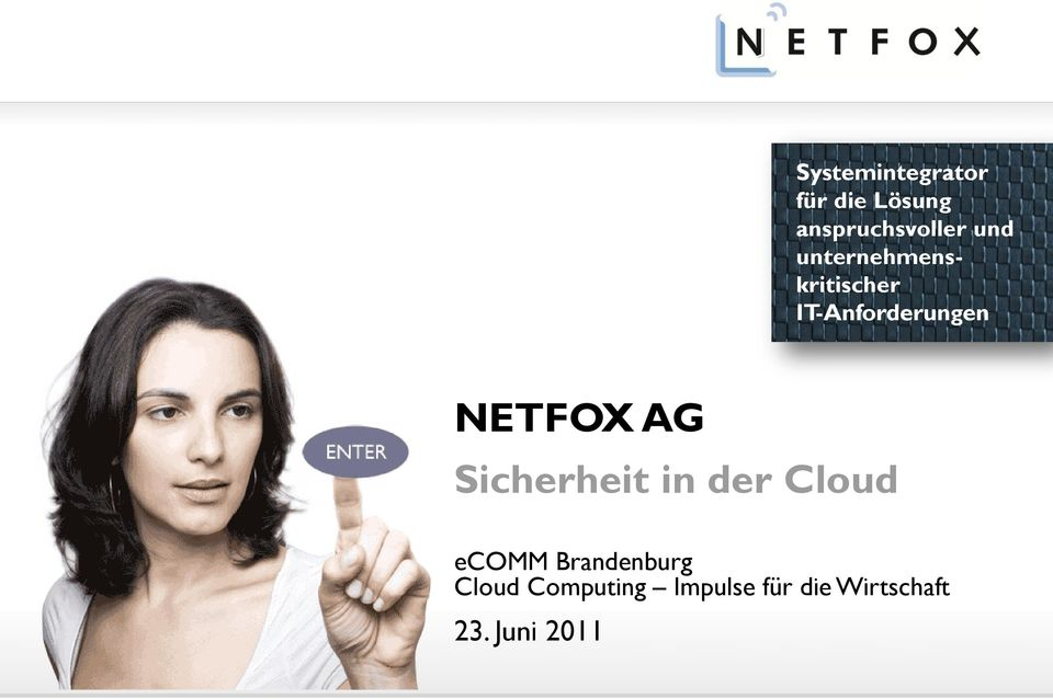 NETFOX AG Sicherheit in der Cloud ecomm