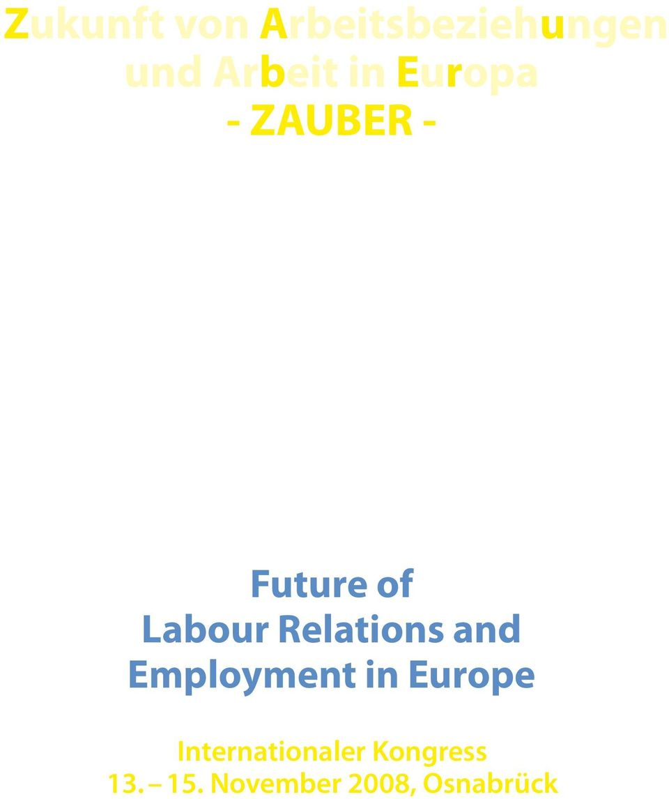 Relations and Employment in Europe
